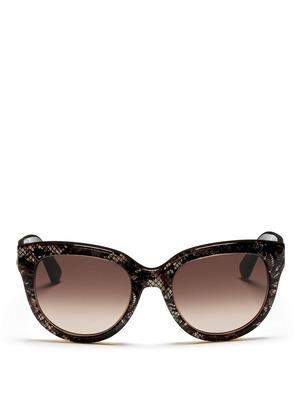 Lace seashell round cat-eye sunglasses