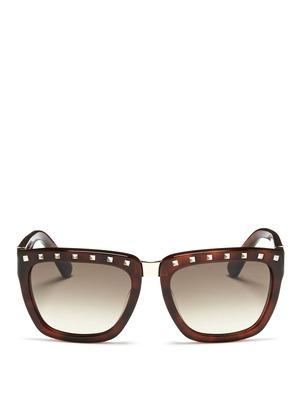 Rockstud plastic square sunglasses