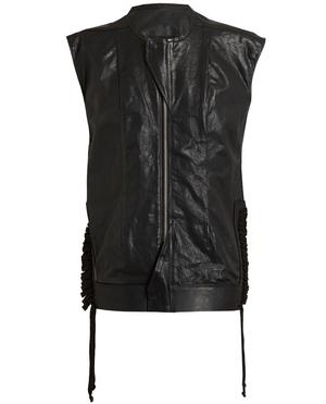 Leather Breast Plate Vest