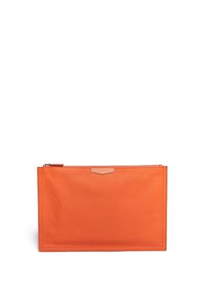 Antigona leather flap zip pouch