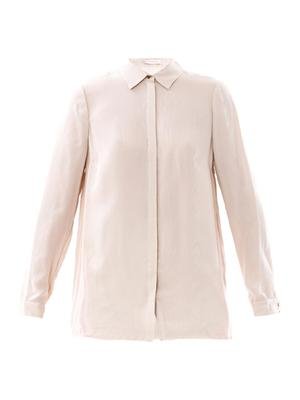 Water silk jacquard shirt