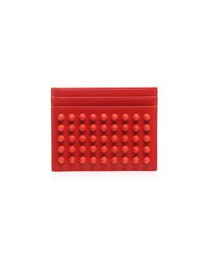 Kios Spikes leather cardholder